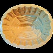 Circa 1900 Yellow Ware Corn Mold