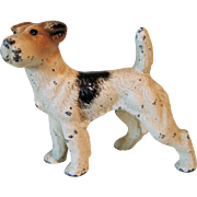 Vintage Cast Iron Hubley Terrier Dog Paper Weight