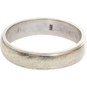Vintage Wedding Ring | 14K White Gold | Marriage Band Two Tone USA