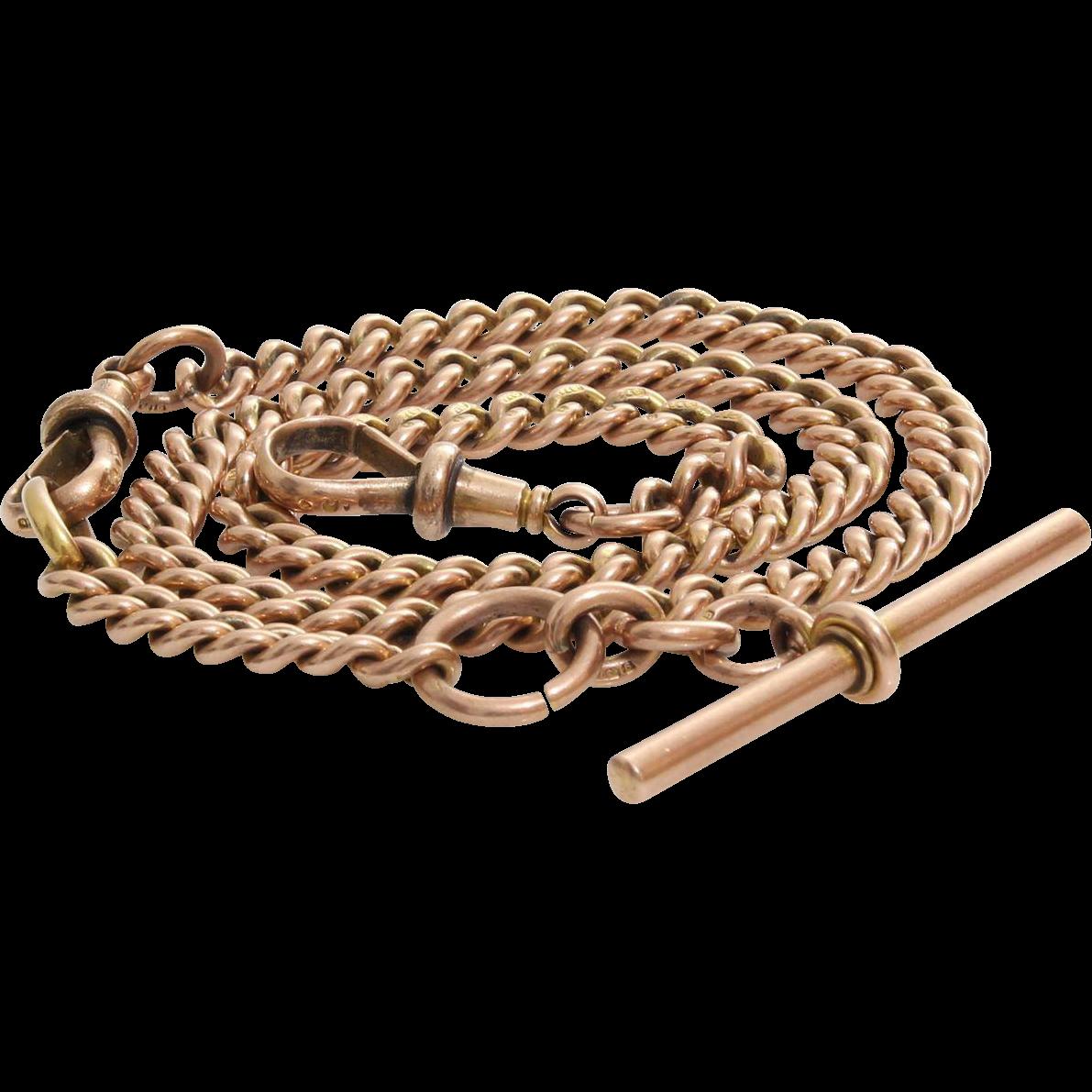 Pocket Watch Albert Chain | 9K Rose Gold