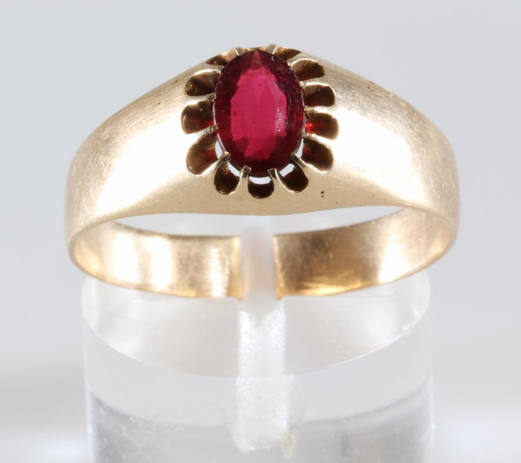 Mens Ruby Ring 14k Gold Oval Cut Antique Russia Solitaire From Thegryphonsnest On Ruby Lane