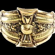 Kabyle Cuff Bracelet | 18K Yellow Rose Gold | Antique Bangle Algeria