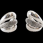 Argent Cuff Earrings | Sterling Silver Vintage | Non Pierced Lost Wax