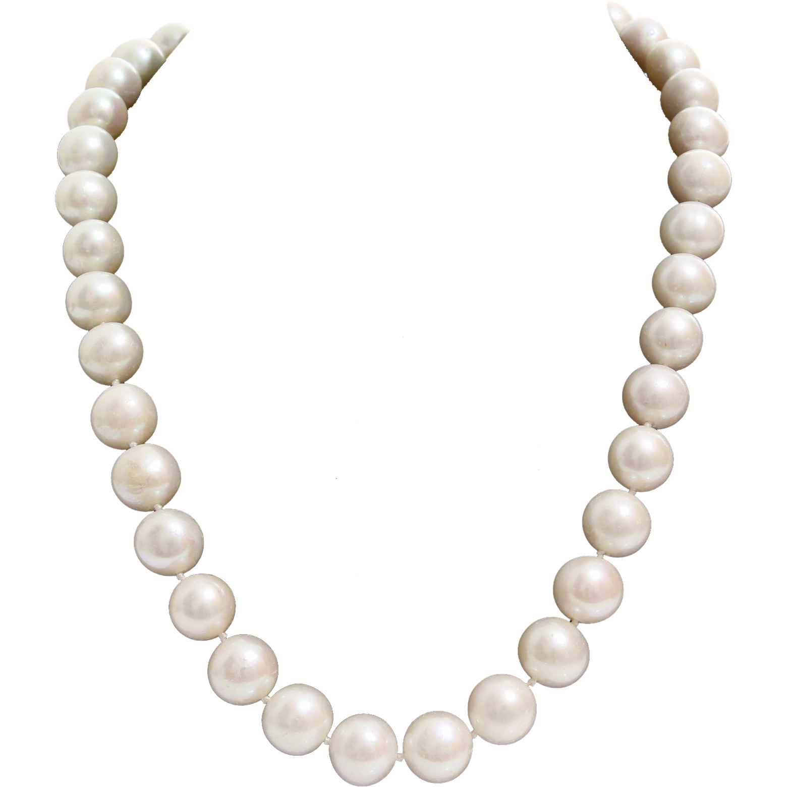 Pearl Collar Necklace White Cultured Vintage 14k