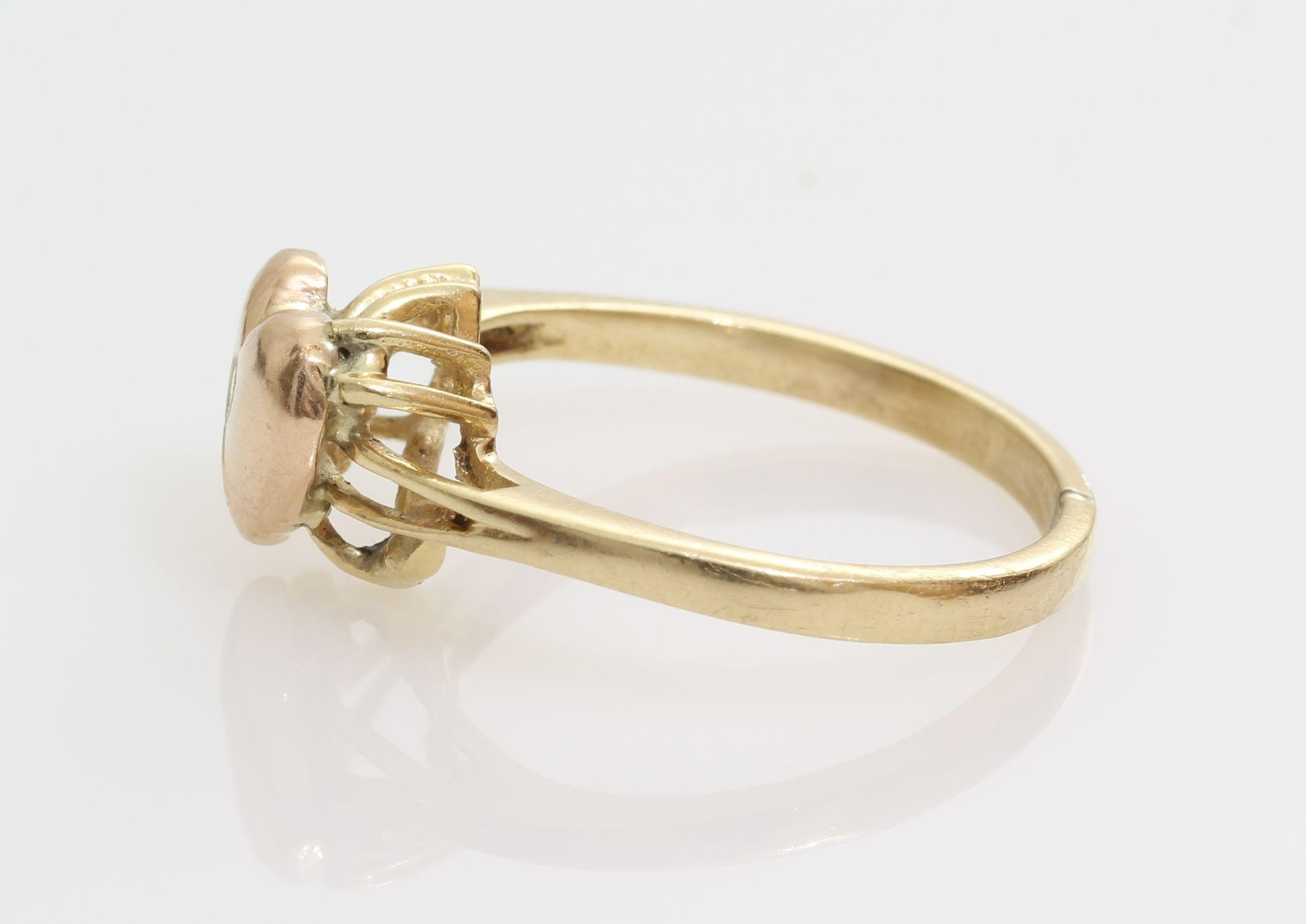 gold ring 14k yellow vintage promise