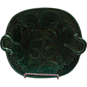 Majolica Greenware English Plate