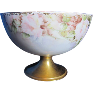 Antique American Painted Compote