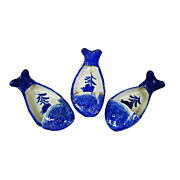 Vintage Canton Fish Shaped Sauce Dish - set of 3