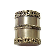 SOLD Sterling Silver Pill Box/Thimble Case