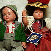 Pr. of  Schildkrot Celluloid dolls