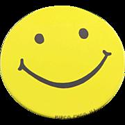 Vintage 1960's Hipco Happy Face Pin