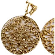 Extra Large Monet GP Clip Earrings