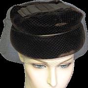REDUCED Brown Velvet 50's Hat