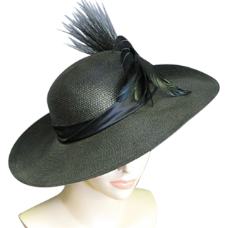 Mr. Charles Black Feather Picture Hat
