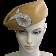 Camel Wool Ladies Hat
