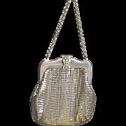 Small Vintage Whiting & Davis Mesh Purse, Silver Mesh '40's Whiting & Davis Small Bag
