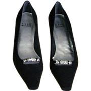 Black Faille Stuart Weitzman Pump