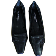 Bruno Magli Black Leather Pump