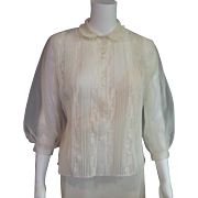 Lee Mar of California See Thru 1950'2 Blouse