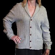 Men's Robert Bruce 1980's Shawl Collared Cardigan Sweater