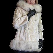 SOLD Vintage Lamb & Fox Fur Coat