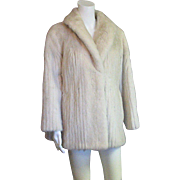 Stunning White Mink Vintage Coat With or Without Belt