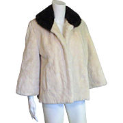 Creamy Soft Beaver & Mink Stroller Jacket