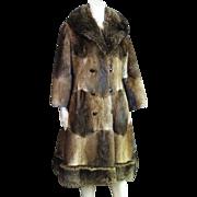 Striking Vintage Fur Full Length Coat