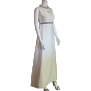 Dazzling White Full Length Formal Dress, Mother of the Bride, Party