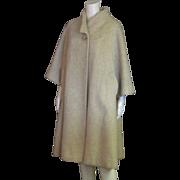 Amazing Vintage Lilli Ann 1950's  Wool & Rabbit Hair Full Length Coat