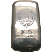 An English Sterling Silver Finely Engraved Cigar Case