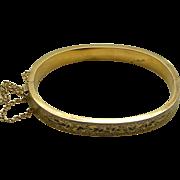 A 10K Victorian Enamel Bangle Bracelet Circa 1880