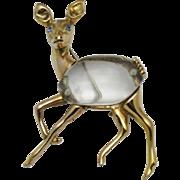 STERLING Jelly Belly Deer 1944 Pin Brooch Book Piece
