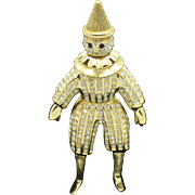 SALE CHRISTIAN DIOR Germany Figural Pierrot Clown Brooch Pin