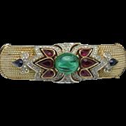 CROWN TRIFARI Jewels of India Moghul Hinged Clamper Bracelet