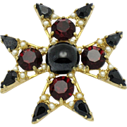 SALE BENEDIKT NY  Maltese Cross Brooch & Pendant