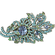 Jose Maria BARRERA Flower Floracl Couture Rhinestone Brooch