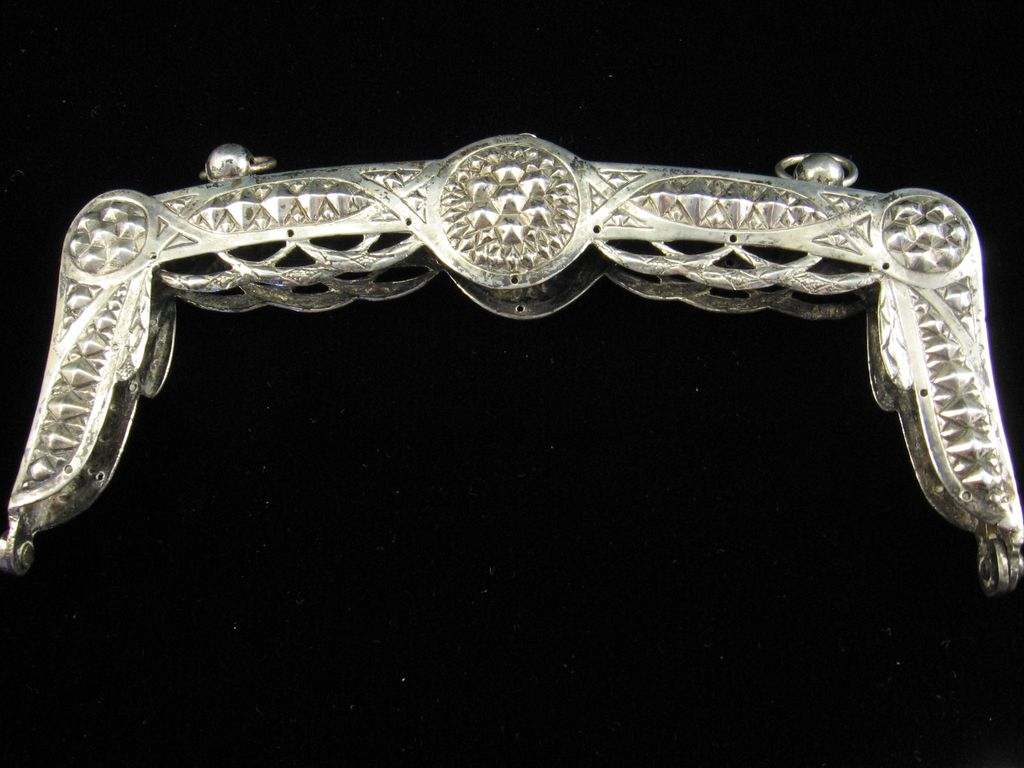 Heavy Silver Purse Frame from Second Half of the 19th Century