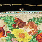 Microbeaded Purse with Micromosaic Frame