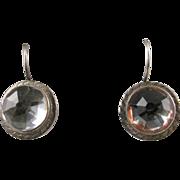 Georgian Rock Crystal Solitaire Earrings