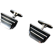 Willy Krogmar Modernist Sterling Cufflinks