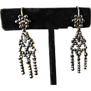 SOLD Victorian Cut Steel Earrings