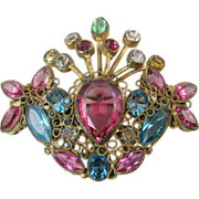 Early Original by Robert Brooch / Pendant with Multicolor Stones