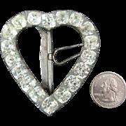 Huge Heart-Shaped Late Georgian / Early Victorian Paste Buckle