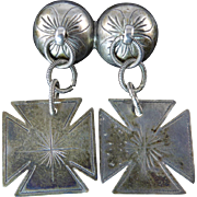 Marius Hammer Silver Brooch with Dangling Crosses