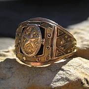 SALE Deco 1930 Austin High School Ring 10k