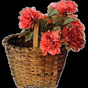 Antique Splint Gathering Basket