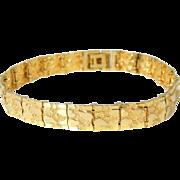 14k Gold Nugget Bracelet 24.5g Estate Vintage Unisex
