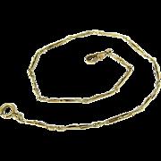 "SOLD Antique 10k Gold Pocket Watch Chain 14"""