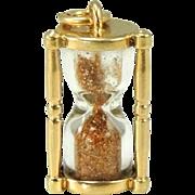 Walter Lampl Hourglass Charm 14k Gold